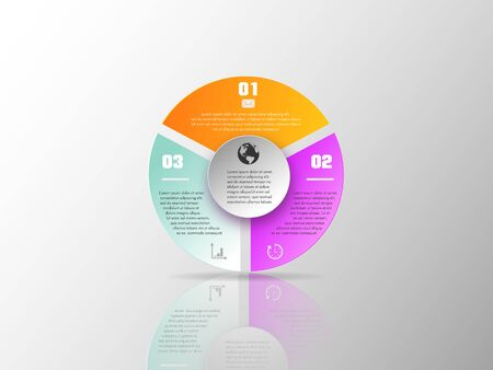 Vector elements for infographic. Template for diagram, graph, presentation and chart. Business concept with 3 options, parts, steps or processes. Abstract background. EPS