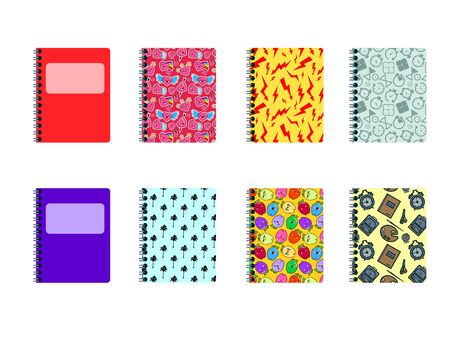 Set of colored covers. Modern Decoration shapes and figures for web, print, patterns branding illustration Stock Photo