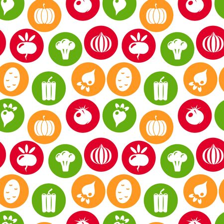 Vegetables seamless pattern. Linear graphic. Vegetables background. Scandinavian style. Healthy food pattern. illustration