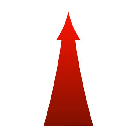 sign red arrow up illustration isolated on white background Stock Photo