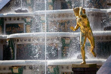 peterhof: Statue of Grand Cascade fountains in Peterhof