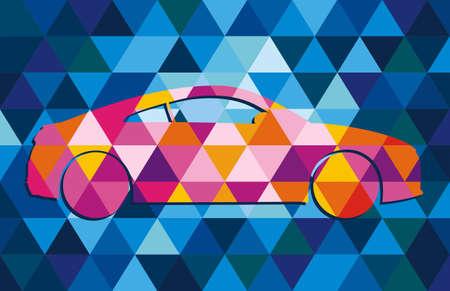 voiture dans le style hipster Banque d'images - 64451369