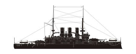 cruiser: Russian Navy Cruiser Vector Silhouette