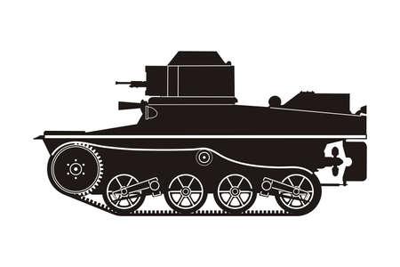 black tank on the white background