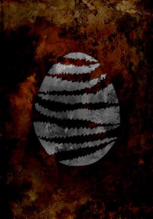 easter egg on the grunge background metal texture Zdjęcie Seryjne - 122508973