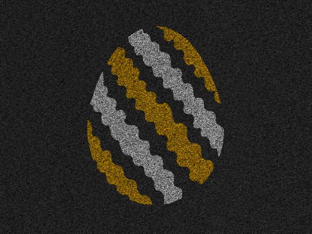 easter egg asphalt background