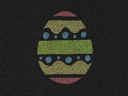 easter egg asphalt background