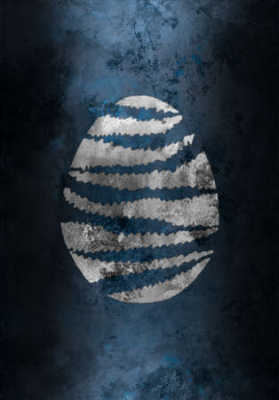 easter egg on the grunge background metal texture