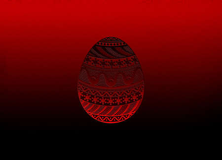 easter egg with ornaments