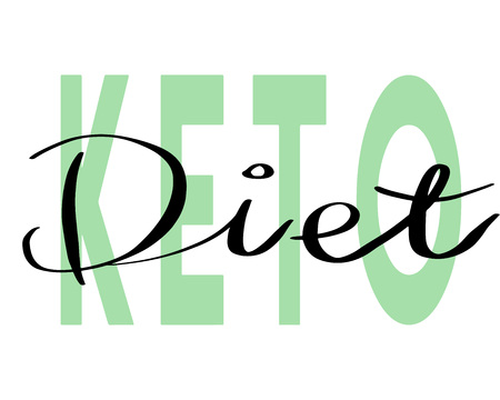 Keto Diet hand drawn lettering. Modern Calligraphy. Vector Illustration. Stock Photo