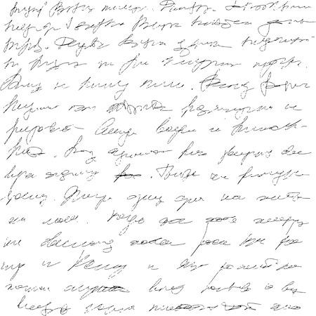 Background grunge handwriting unreadable letters. Vector illustration Reklamní fotografie - 123708356