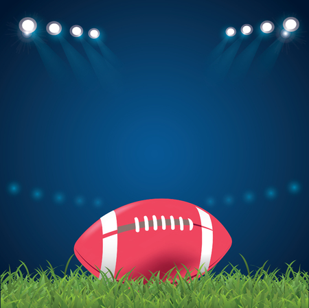 American football, leather ball at the stadium, Versus, competition Illustration