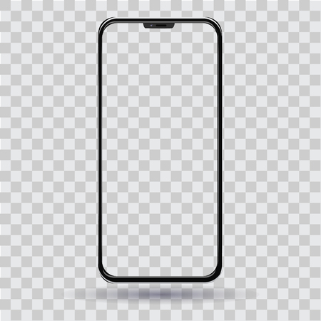 Smartphone with a transparent screen vector Illustration