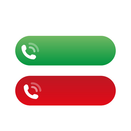 Call Accept and Reject Icons, vector illustration