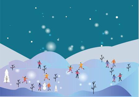 Christmas winter season with snows Standard-Bild - 134892124