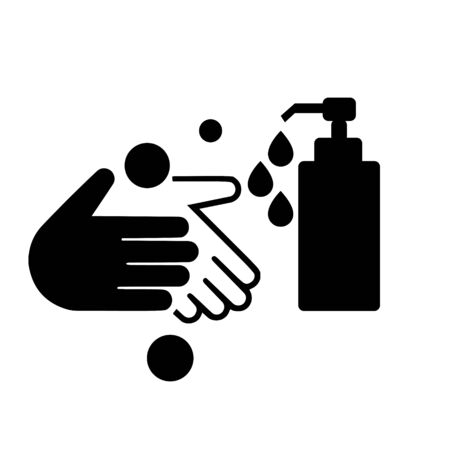 Wash your hands icon. Hand Wash Sign