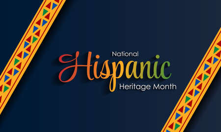 Hispanic National Heritage Month in September and October. Hispanic and Latino culture. Latin American patterns. Vector Vecteurs