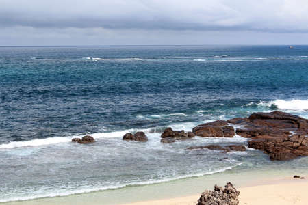 swell: Indian Ocean coastline at Margaret River south western Australia Stock Photo