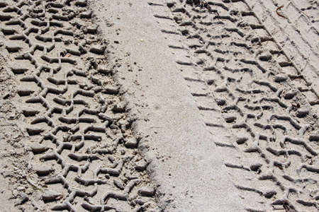 four wheel drive: Four wheel drive tyre marks on wet sand of  Australian beach