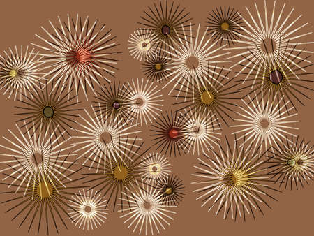 superimposed: Abstract Modern Starburst Design in Superimposed Format