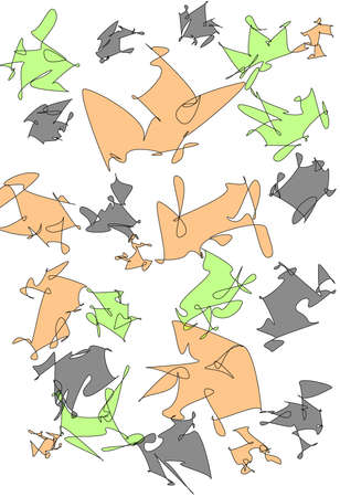 goblins: Modern Abstract Shapes design on white background