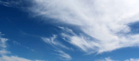 cloud drift: Panorama of White clouds in blue sky