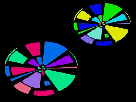 eliptica: Moderno dise�o abstracto brillante fantas�a geom�trica el�ptica