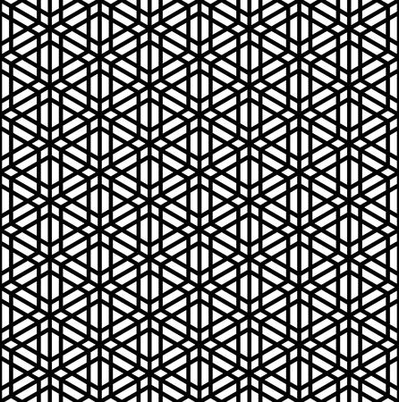 Japanese seamless pattern Kumiko black and white silhouette 일러스트