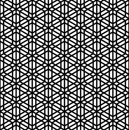 Japanese seamless pattern Kumiko black and white silhouette Illusztráció