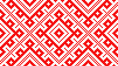 Traditional Russian and slavic ornament made by squares.