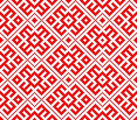 Traditional ethnic Russian Slavic ornament Vector illustration. Illustration