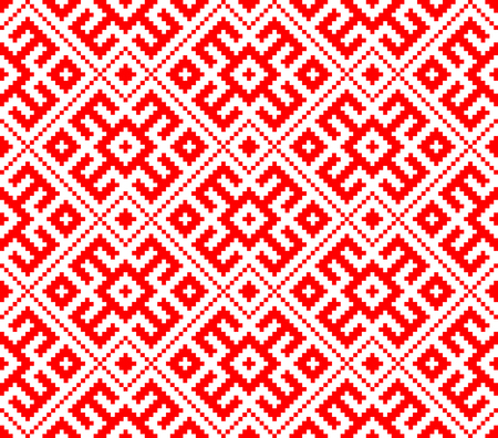 Traditional ethnic Russian Slavic ornament Vector illustration. Ilustração