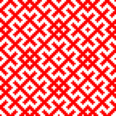 Russian Slavic ornament traditional seamless pattern.