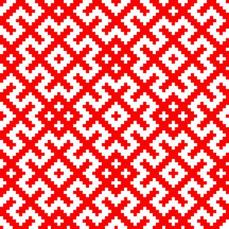 Russian Slavic ornament traditional seamless pattern.
