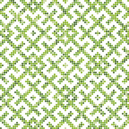Seamless Russian ethnic ornament.The pattern is filled four-color palette of lime in random order  イラスト・ベクター素材