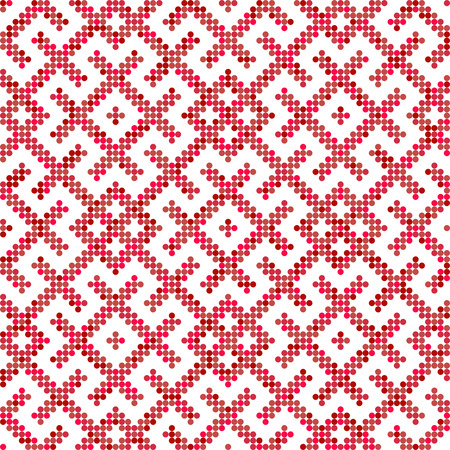 Seamless traditional Russian and slavic ornament.Four-color palette of raspberry in random order