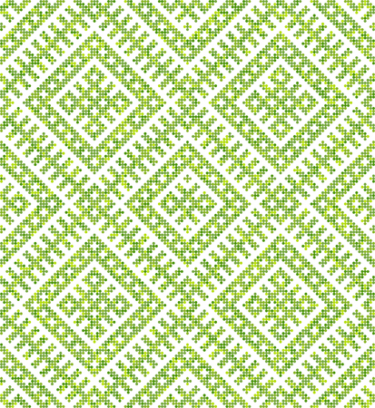 Russian ethnic ornament.DISABLING LAYER, you can obtain seamless pattern.The pattern is filled four-color palette of lime in random order