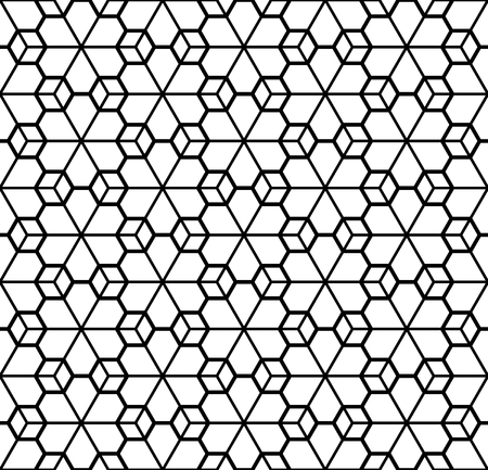 Seamless patterns in black and white in average and small thickness lines