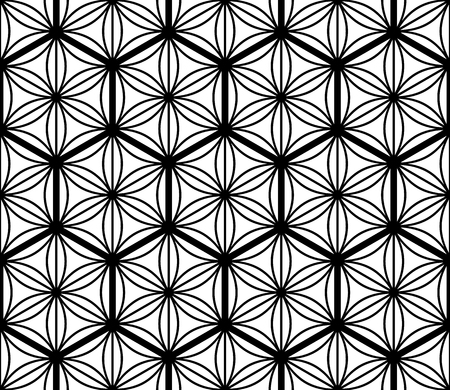 Seamless geometric pattern based on traditional Japanese Kumiko patterns .Grid of hexagons of large thickness.  イラスト・ベクター素材