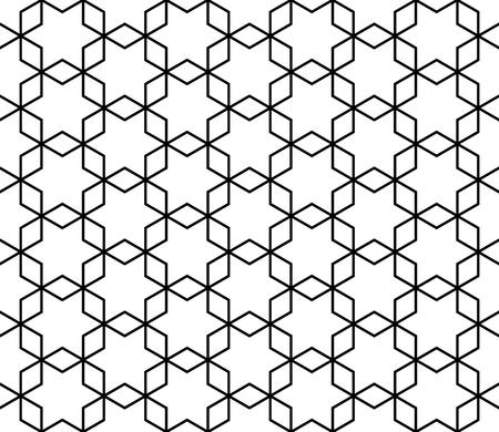 Seamless geometric pattern based on Kumiko ornament without lattice