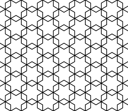 Seamless geometric pattern based on Kumiko ornament without lattice
