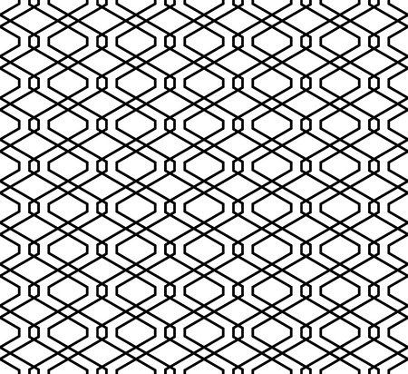 Seamless abstract geometric pattern.Black shilhouette on white background.