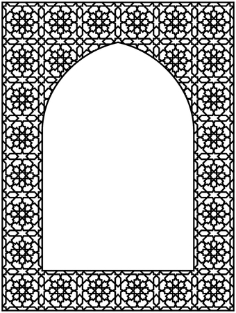 Rectangular frame of the Arabic pattern with proportion three by four.