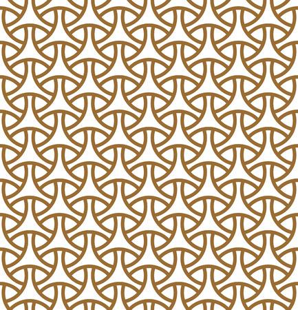 Modèle sans couture en lignes moyennes dorées.Basé sur des motifs géométriques arabes. Vecteurs