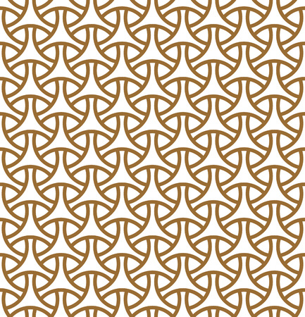 Seamless pattern in golden average lines.Based on arabic geometric patterns. Stock fotó - 112125477