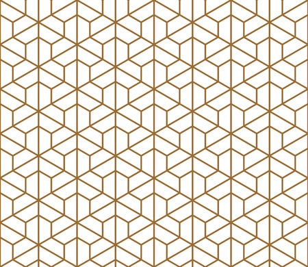 Seamless pattern based on Kumiko ornament .Silhouette with average thickness lines.Suitable for laser cutting and design. Ilustrace