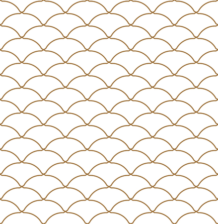 Seamless pattern based on Kumiko ornament .Golden lines.Suitable for laser cutting and design.