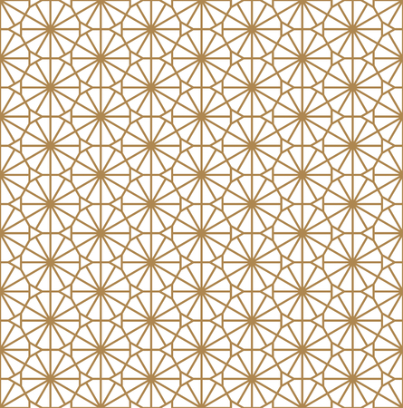 Beautiful Seamless pattern japanese shoji kumiko, great design for any purposes. Japanese pattern background vector. Japanese traditional wall, shoji. Average thickness lines.