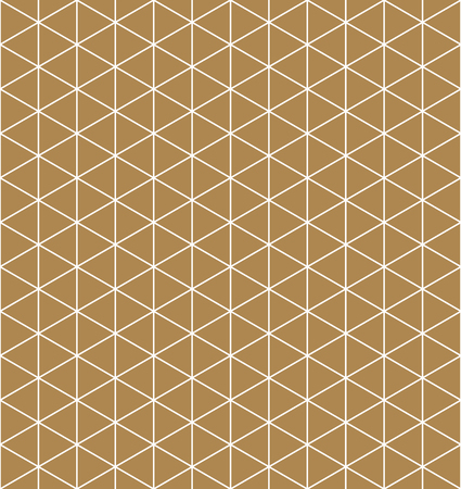 Seamless pattern.Base grid Mitsukude for japanese patterns Kumiko. Kumiko brown background and white pattern color silhouette.Average thickness lines.