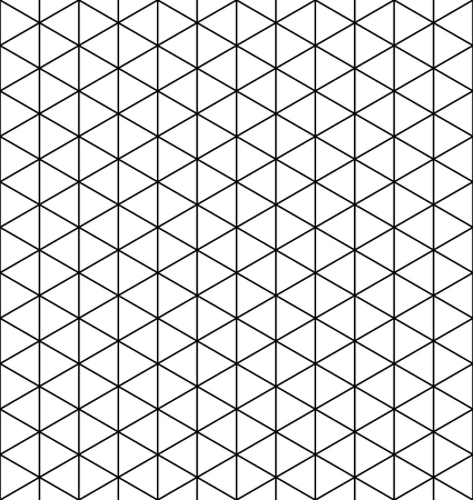 Seamless pattern.Base grid Mitsukude for japanese patterns Kumiko. Kumiko black and white silhouette.Average thickness lines.
